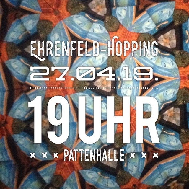 Still not sure which place to go for Ehrenfeld-Hopping? We got a fantastic line up @pattenhalle • @tssteel_official • @ohsleep_ • @steckenpferdband  Come out and party with us!!! #ehrenfeldhopping #folkmusic #americanamusic #kunstundkultur #livemusik #ehrenfeld #koelnevents #koelnehrenfeld #rausgegangen_koeln #savethedate #whatsgood
