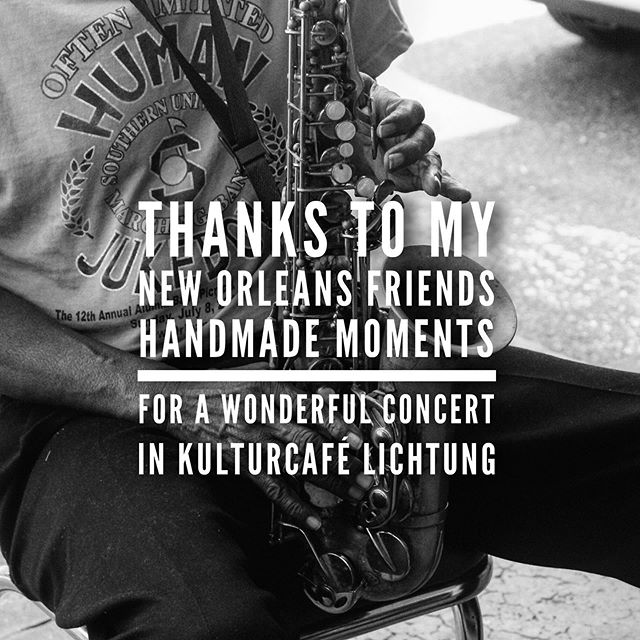 Thanks to @leuchtfeuer_booking_coaching  And @handmademomentsmusic  For a tremendous evening of music 🎶 @kulturcafelichtung  This talented band from #neworleans has another 3 weeks touring through Europe. All the best to you guys!!!