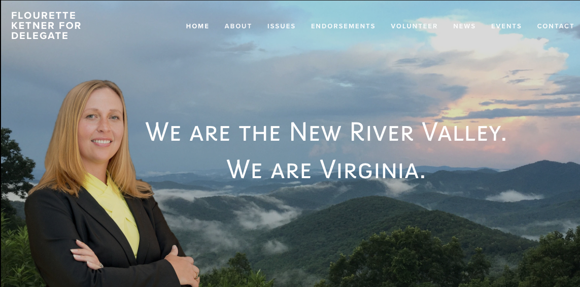 Website designed for Flourette Ketner, Candidate Virginia House of Delegates
