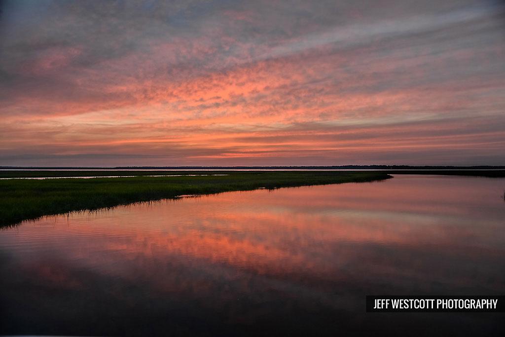 sunset marsh walker's landing