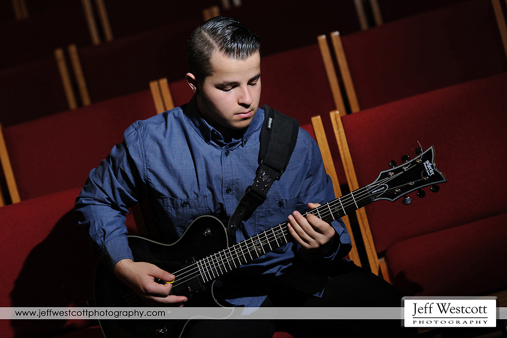 senior portraits jacksonville church guitar