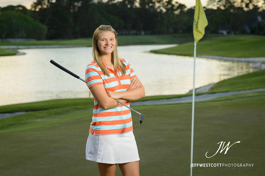 Senior portrait girl jacksonville golf