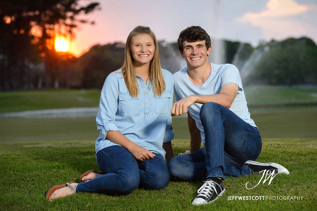 senior portrait sunset jacksonville