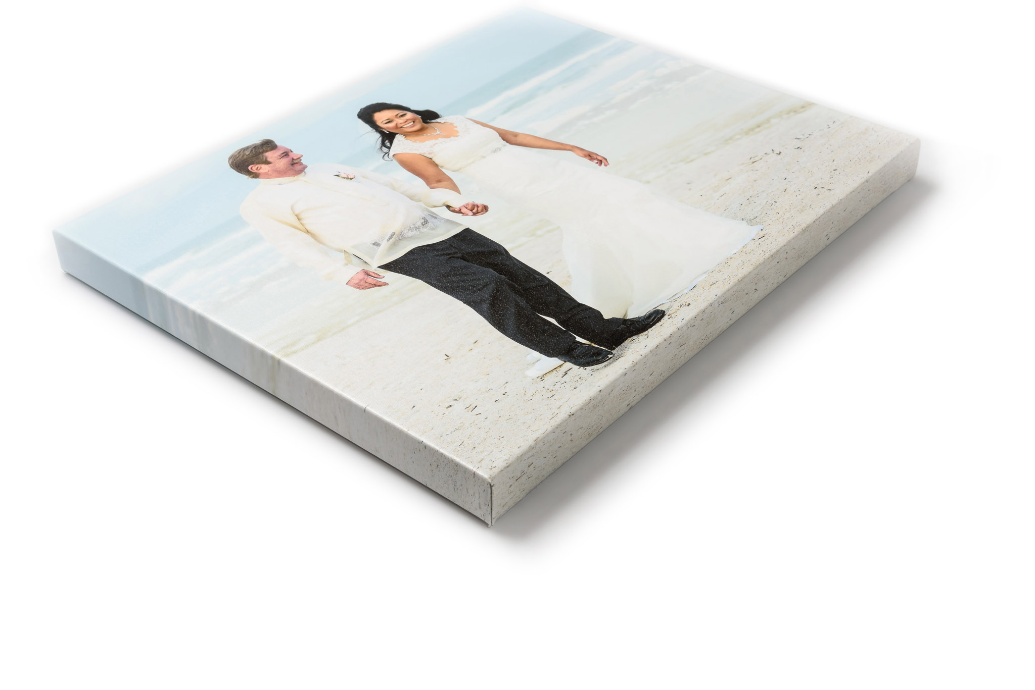 CANVAS GALLERY WRAPS - The gallery wraps take a beautiful ink-on-canvas print and literally wrap it around a sturdy wooden stretcher frame for a contemporary look. For a more formal appearance, you can choose to have the edges printed in black. This not only helps the canvas appear to stand out from your wall, but also preserves more of the details since the entire image is printed on the front surface of the canvas. All gallery wraps come with heavy mounting wire and corner bumpers to protect your walls.