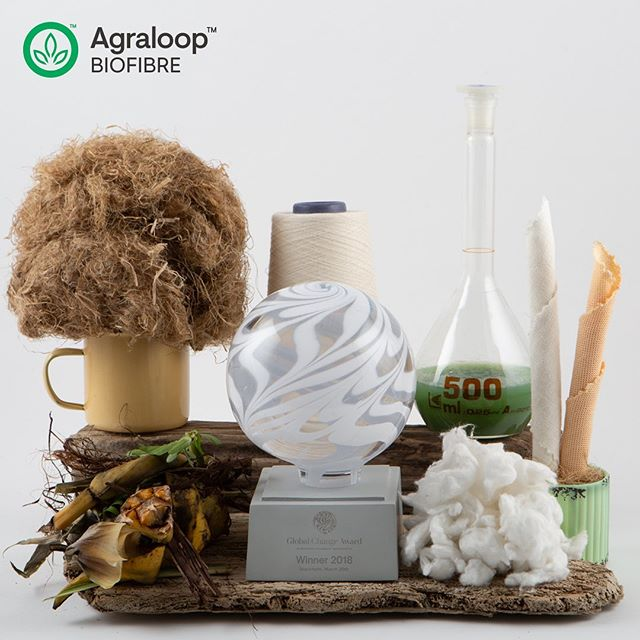 "Our Agraloop™️ technology converts food-crop ""waste"" into high-value Biofibre™️ creating regenerative benefits for people, planet, and industry. @hmfoundation @copenhagenfashionsummit @fashionforgood #cphfs19 #circular-economy #sustainablefashion #circularfashion"