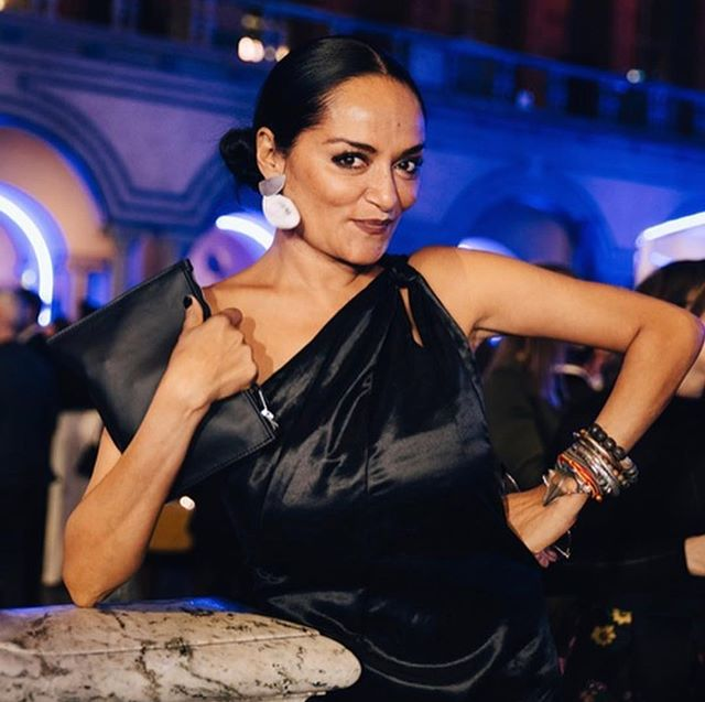 @behavebandana wearing a gown that was made by @andotherstories for the @hmfoundation 2019 Global Change Awards in Stockholm the other night. This gown is made from our Agraloop oil-seed hemp Biofibre and Silk. The first and only of its kind. Thanks to Bandana and Other Stories for collaborating on this amazing project! #circularsystems #globalchangeaward #sustainability #biofibre