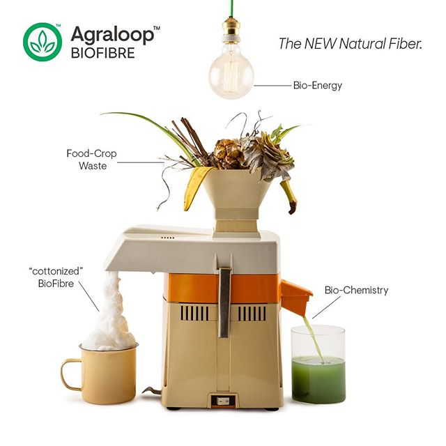 The Agraloop™  transforms food crop waste into high-quality BioFibre while producing only beneficial effluents.  Providing REGENERATIVE benefits to people, planet, and industry.  #circulareconomy #circularsystems #sustainablefashion #regenerativeagriculture