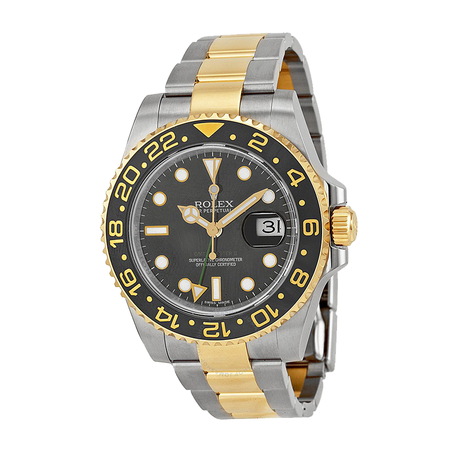 rolex-gmt-master-ii-black-dial-stainless-steel-and-18kt-yellow-gold-rolex-oyster-automatic
