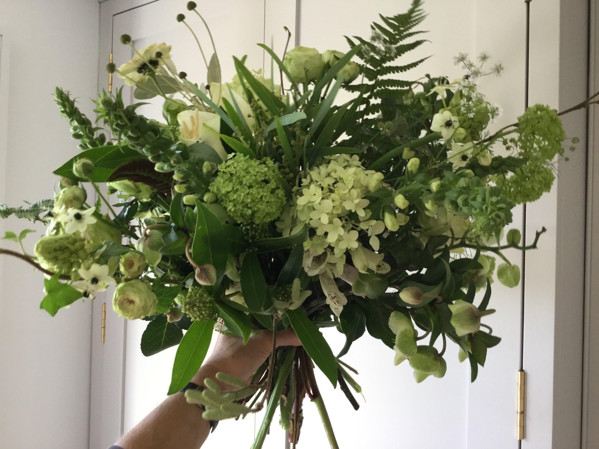 natural form bouquet. hadleigh, suffolk