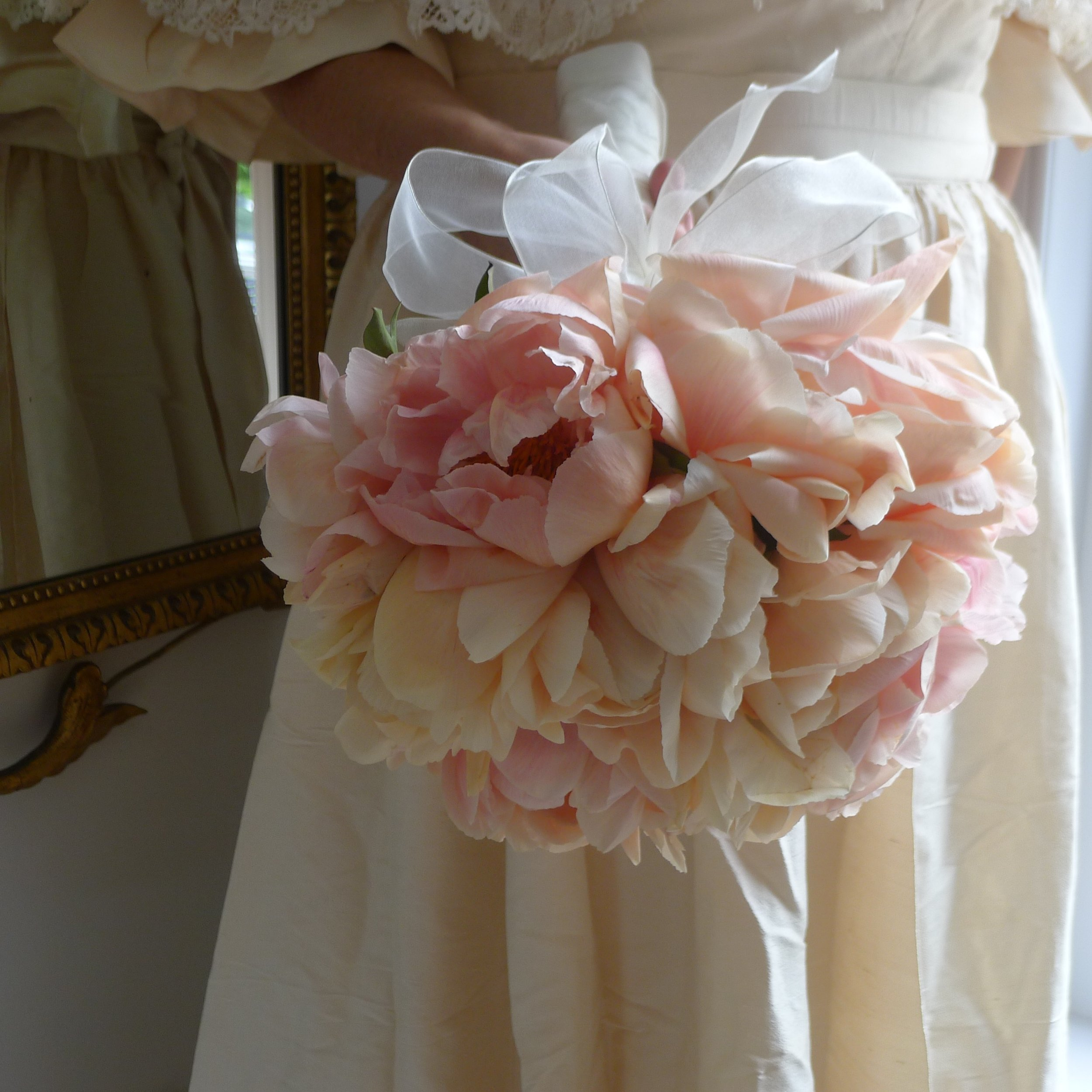 romantic full-blown peony bouquet