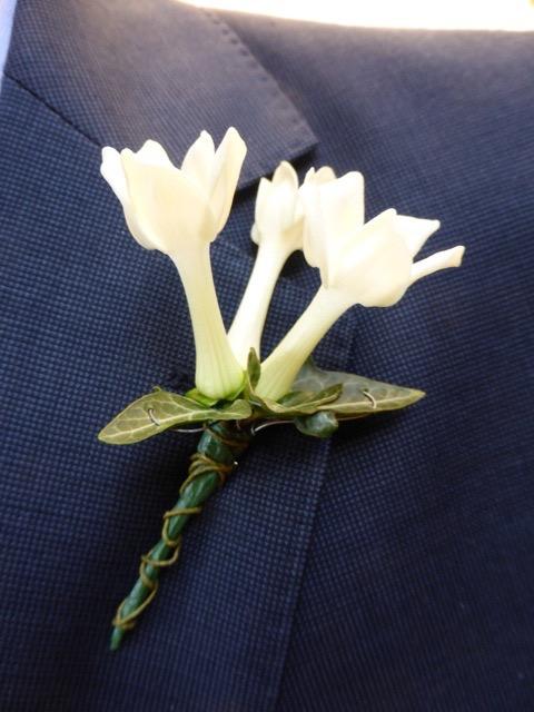 Stephanotis buttonhole