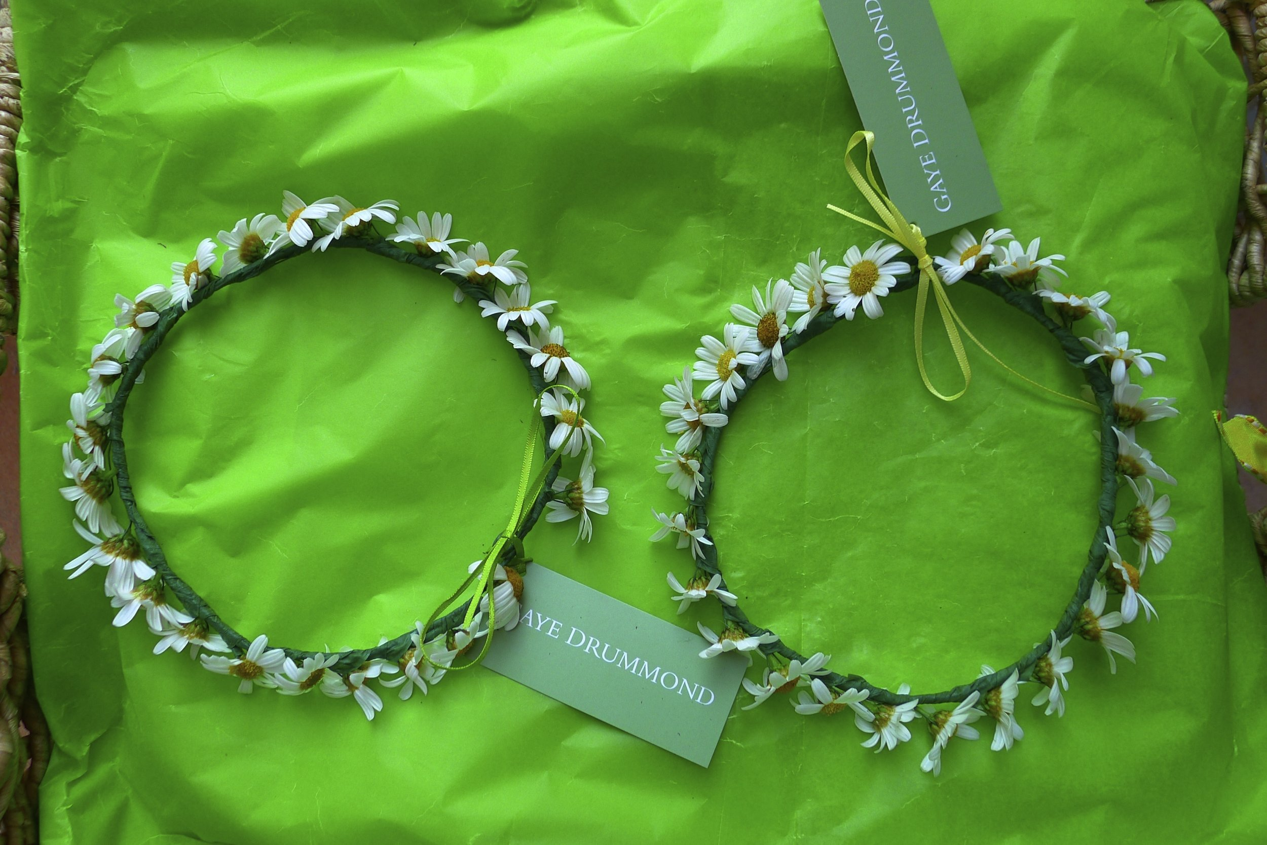 summer daisy circlets. Maison talbooth, dedham
