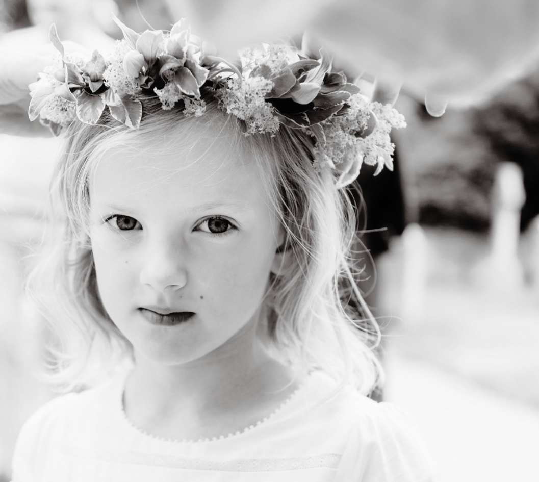 bridesmaid's floral crown