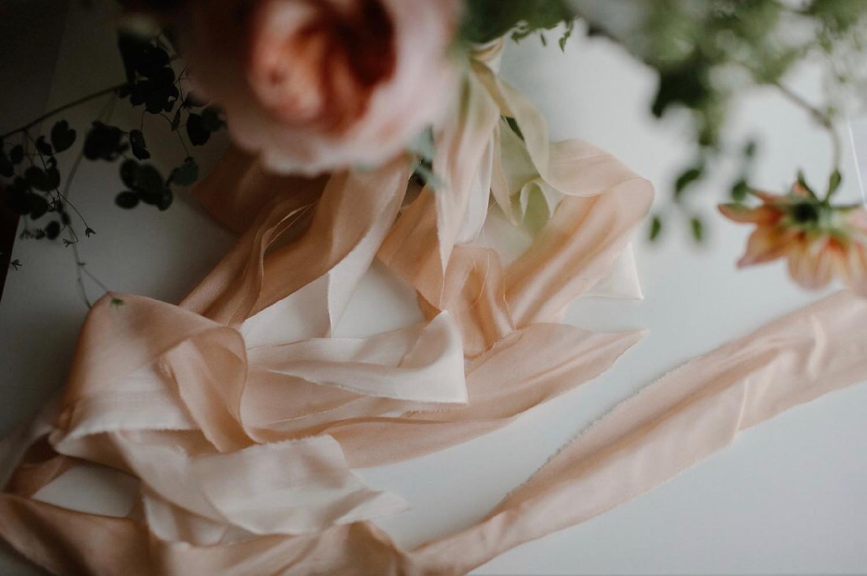 hand dyed silk ribbon