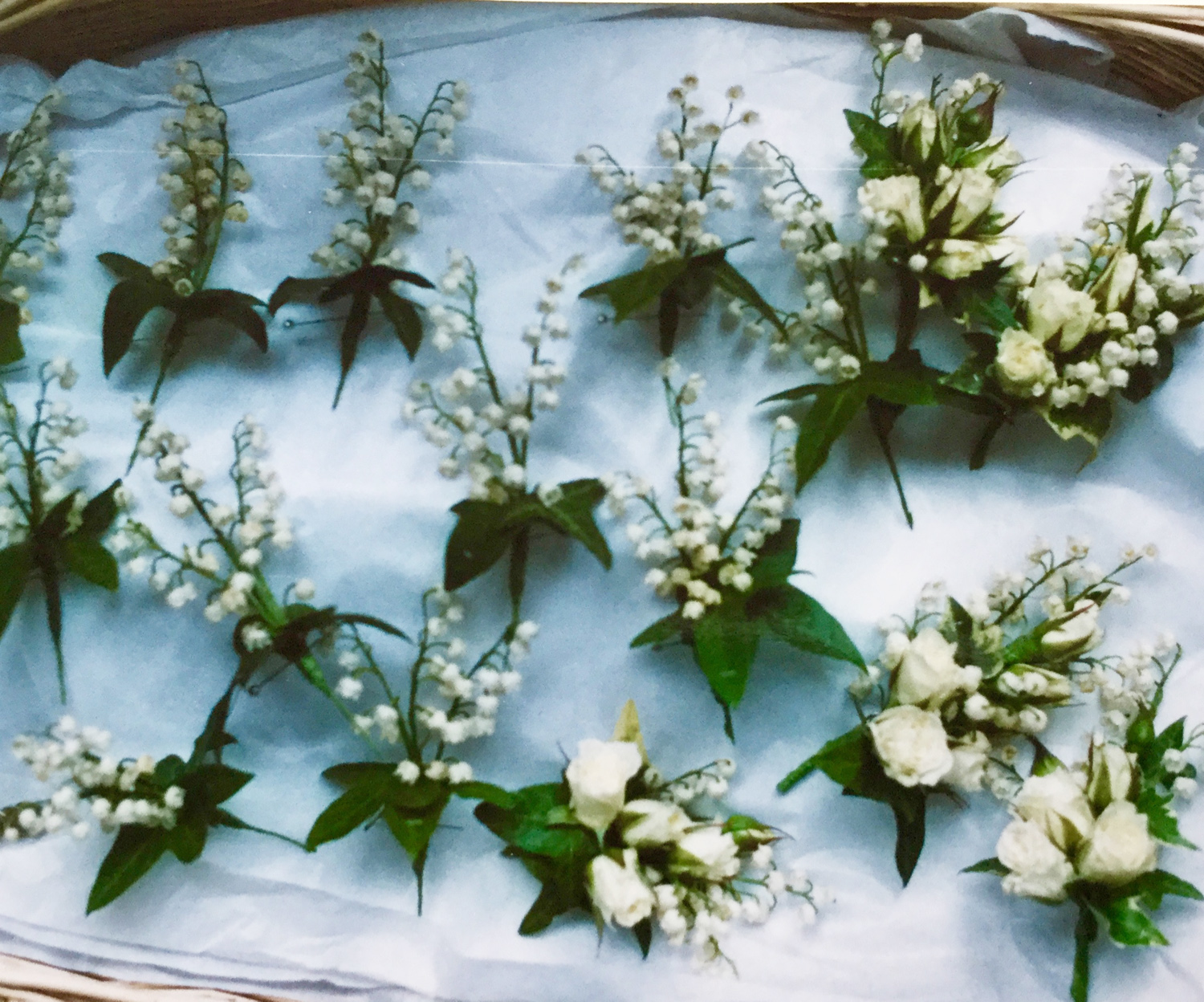 buttonholes lily of the valley