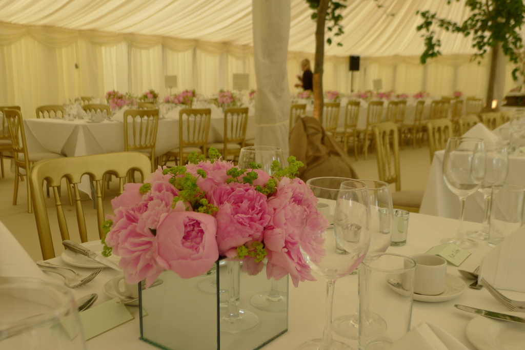 peonies mirror vases, great horkesley, essex