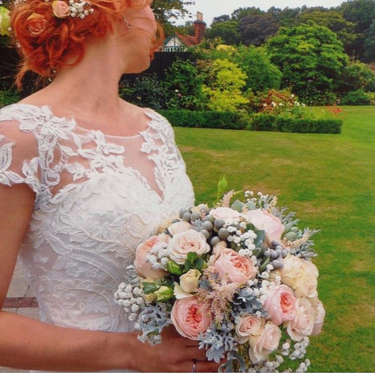 gaynes park. juliet rose bouquet