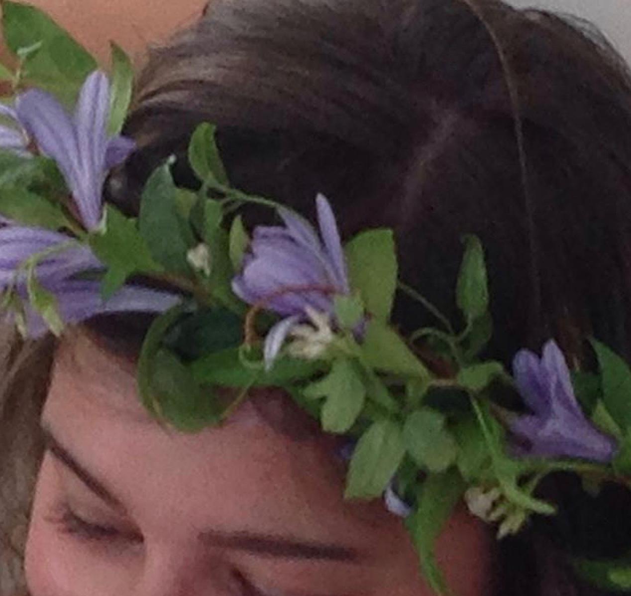 floral crown agapanthus