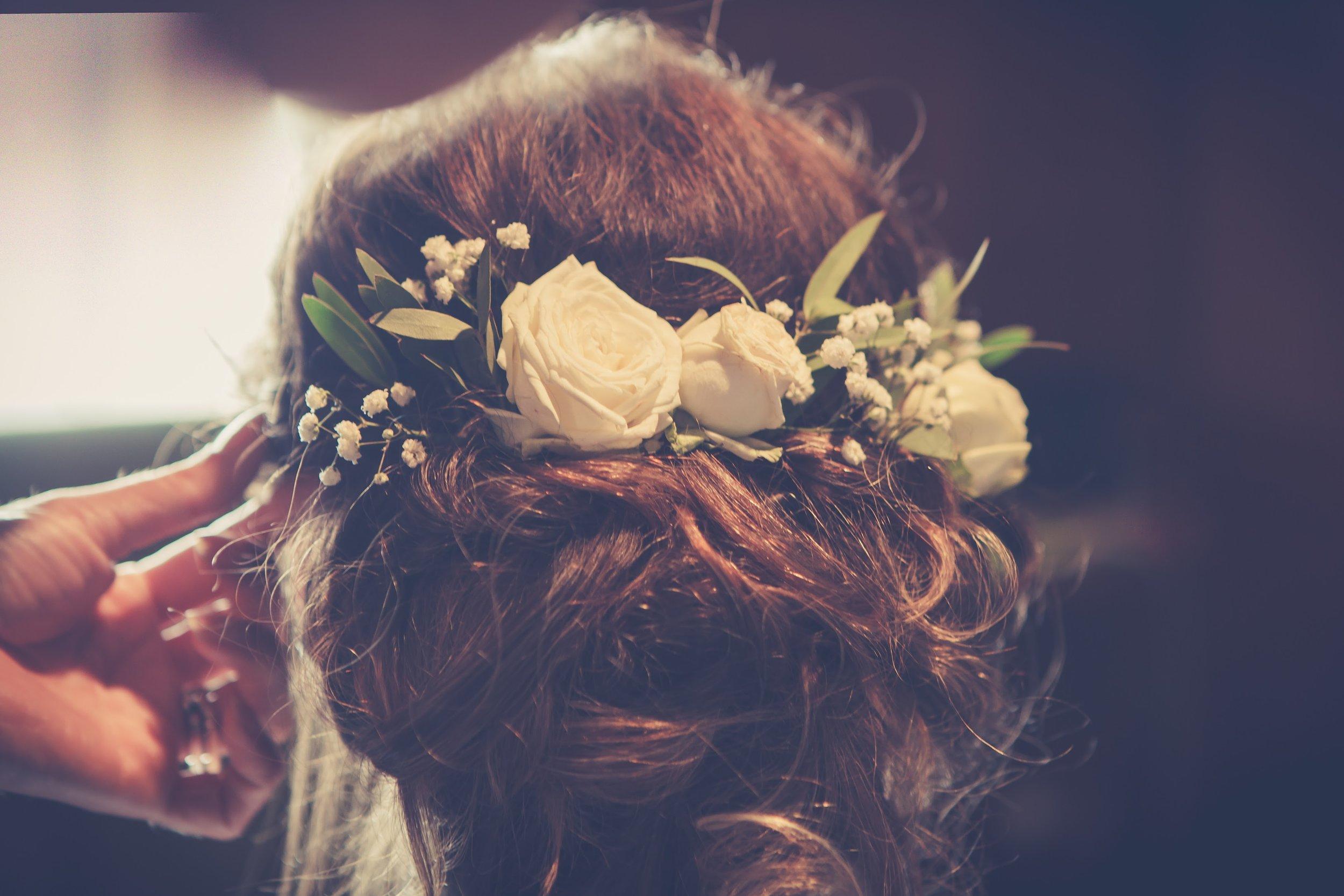 hair flowers, east bergholt