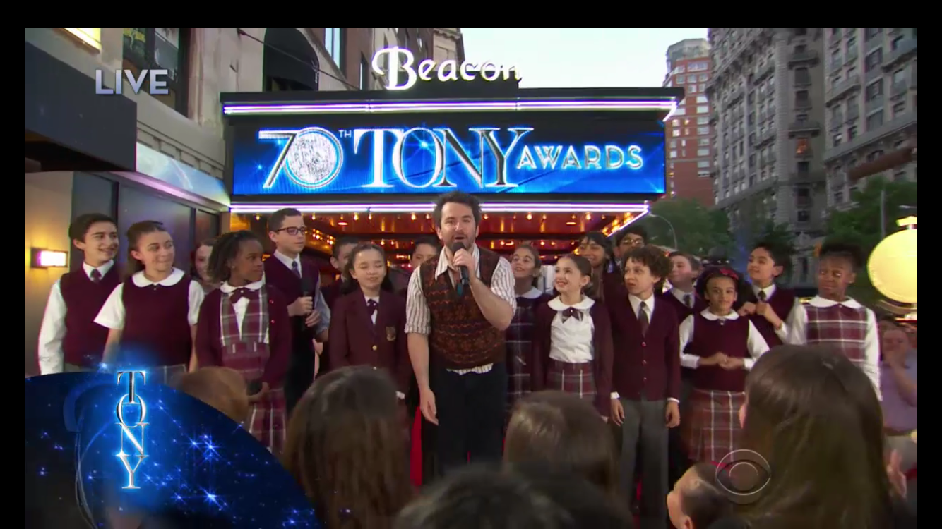 Cast of  School of Rock The Musical  at the Tony Awards.