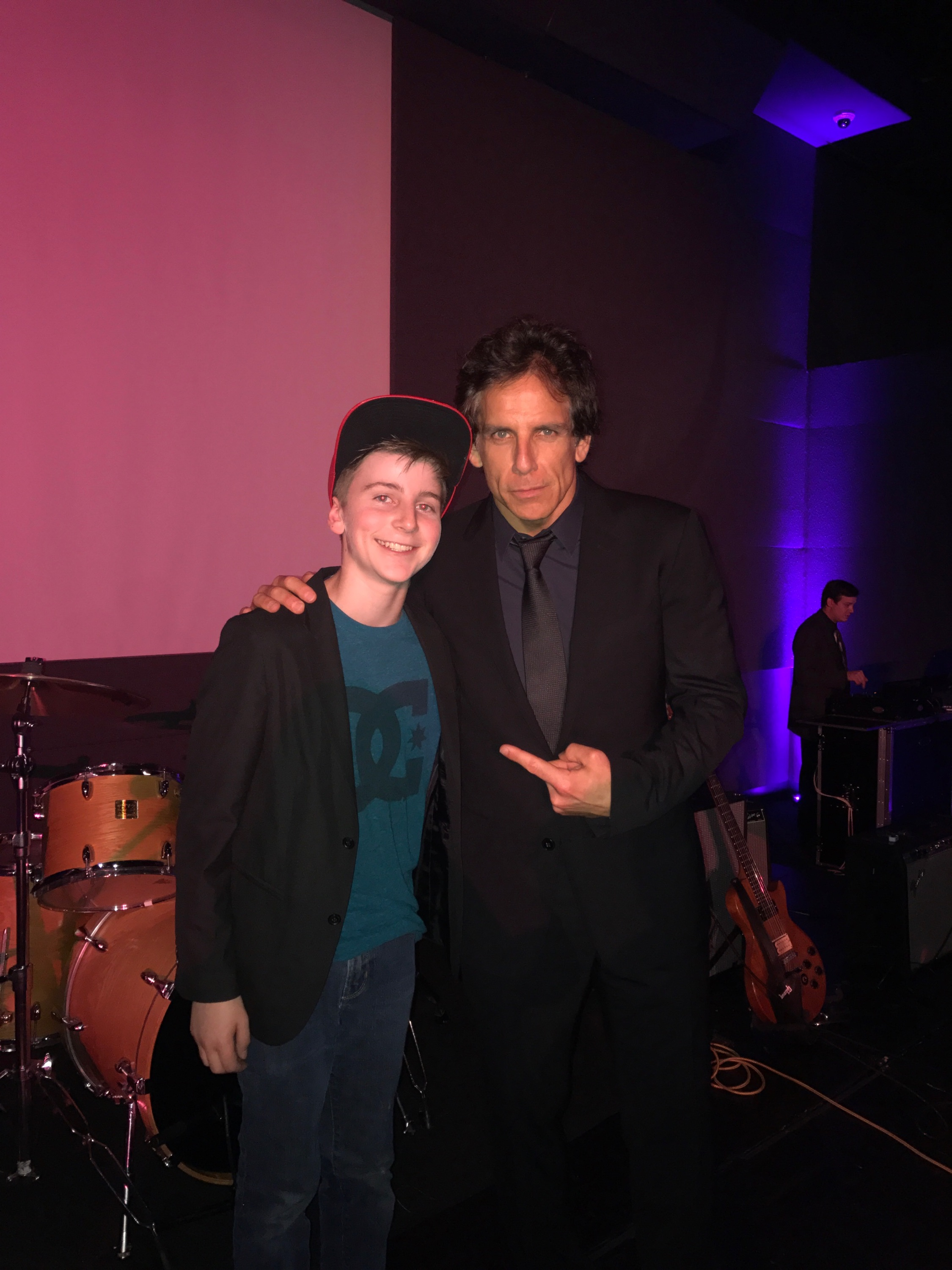 With Ben Stiller at Museum of Natural History