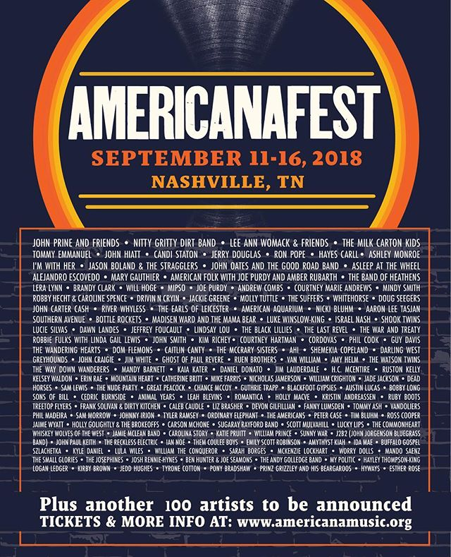 Excited to be apart of @americanafest alongside some of my favorite artists #americanafest #americana