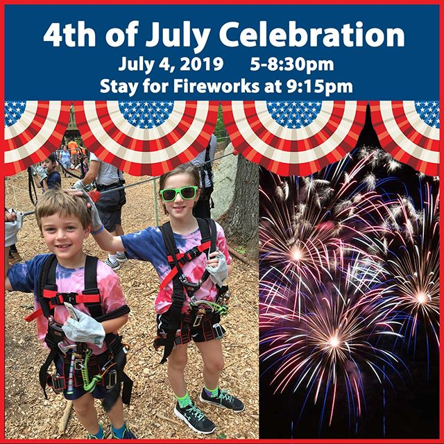 4th of July Celebration at TreeTop Adventures!🎆⁣ Thursday 7/4 (5-8:30pm)⁣ *Last ticket sale 6pm.⁣ .⁣ Work off that 4th of July BBQ Lunch! We'll be zip-lining in the trees until 8:30pm on the 4th of July. Wear your Red, White & Blue and climb from 5:00-8:30pm. After your climb, stay for the Town of Canton Fireworks Celebration at the Irish Cultural Centre starting at 9:15pm! 🎆⁣ .⁣ Price: All Ages Ticket (7+): $40/person⁣ .⁣ Book Tickets Online: Link in Bio! ⁣ .⁣ .⁣ .⁣ #treetopcanton #adventure #fireworks #treetopadventure #treetopadventures #treetop #treetops #fourthofjuly #4thofjuly #thingstodo #thingstodowithfamily #thingstodowithfriends #thingstodoinboston #boston #massachusetts #event #nature #outdoors #forest #fun #funthingstodo #getouside #trees #climbing #ziplining #zipline #ziplines #explore #fitness #cantonmass ⁣ ⁣