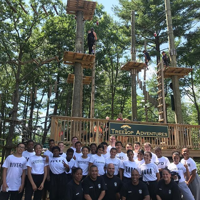 Shout out to @northeasternpd and the Northeastern Youth Police Academy for spending graduation day with us in the trees! Congrats to you all! 🎓 we hope you have a wonderful rest of your summer! 🌲🌤 #northeasternuniveristy