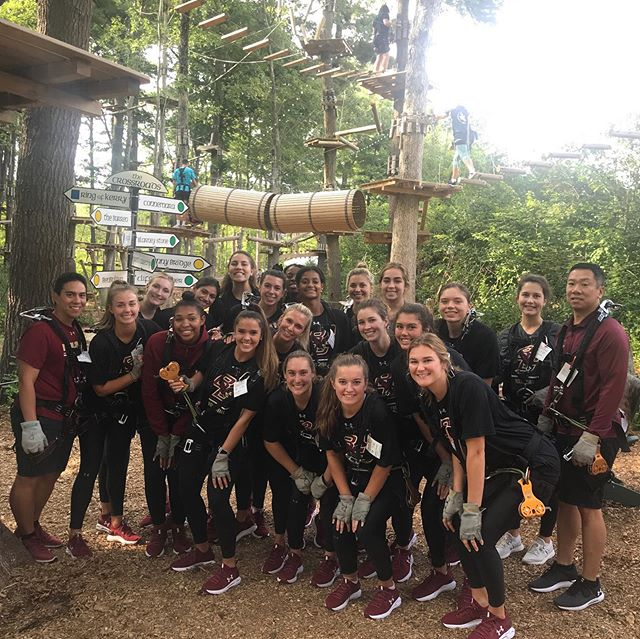 Pre Season has begun! Good Luck on your season @bc.vb!  #bceagles #bcorientation #bostoncollege #fallsports #teambuilding #treetopcanton #summerbucketlist #college #collegelife