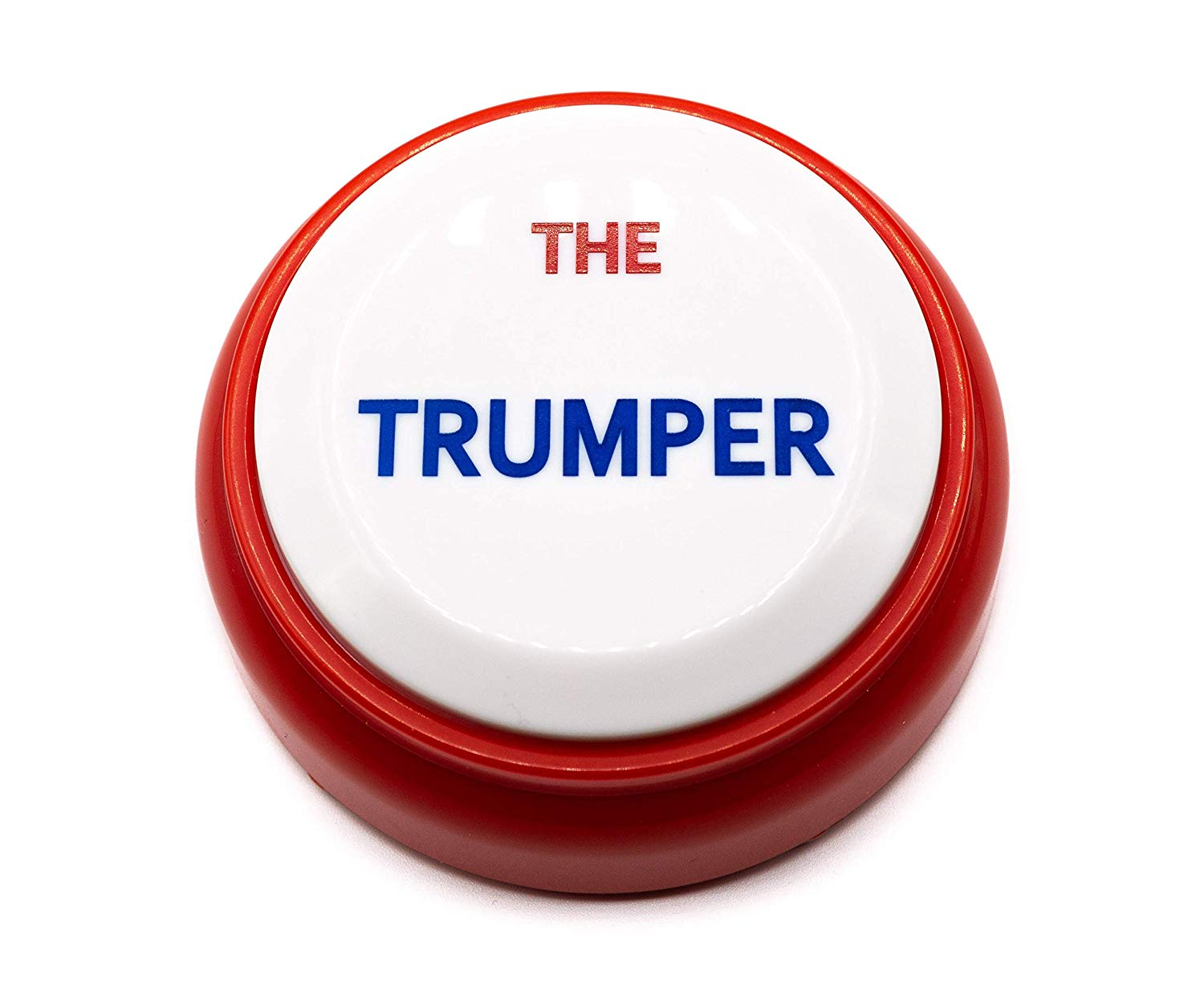 14. The Trumper - Does making fun of The Donald ever get old? This button will be a huuuuge hit.