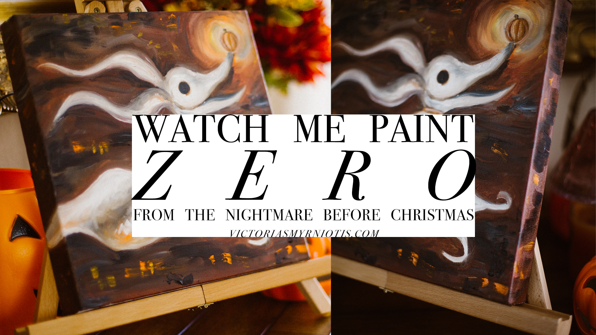 Watch Me Paint Zero from Nightmare Before Christmas by Victoria Smyrniotis