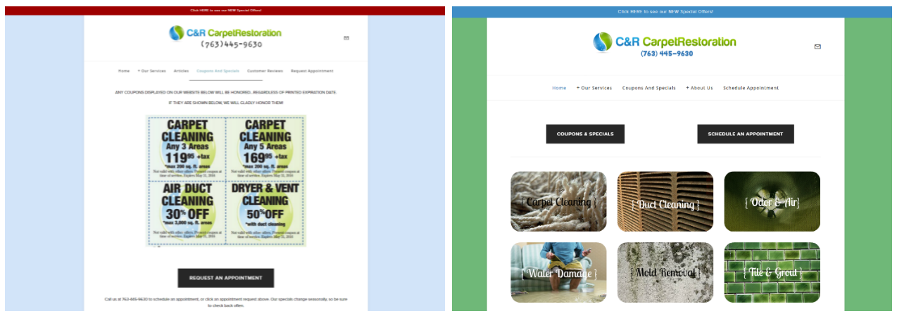 brook maier - web development and redesign before and after.PNG