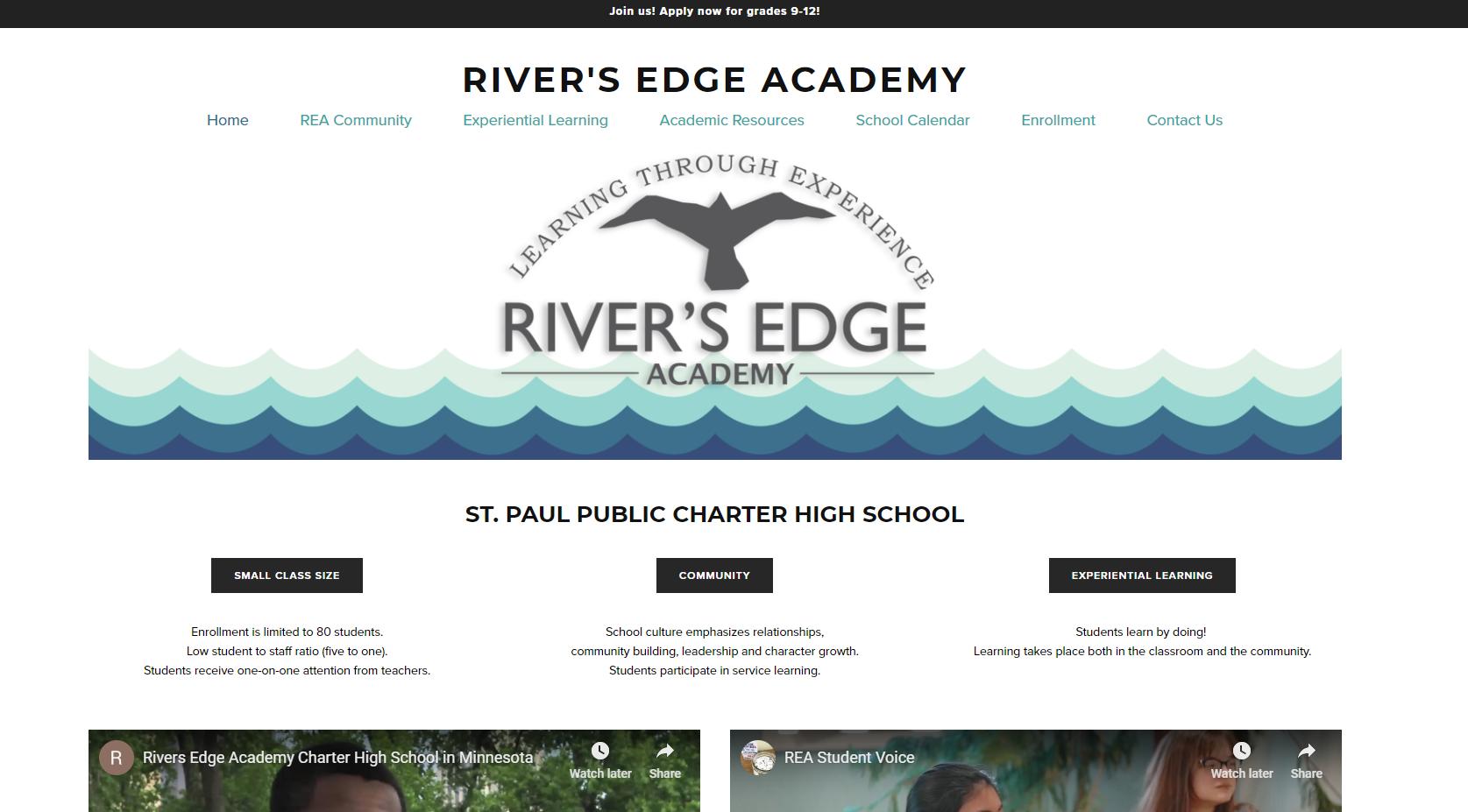 rivers edge academy website design - brook maier.PNG