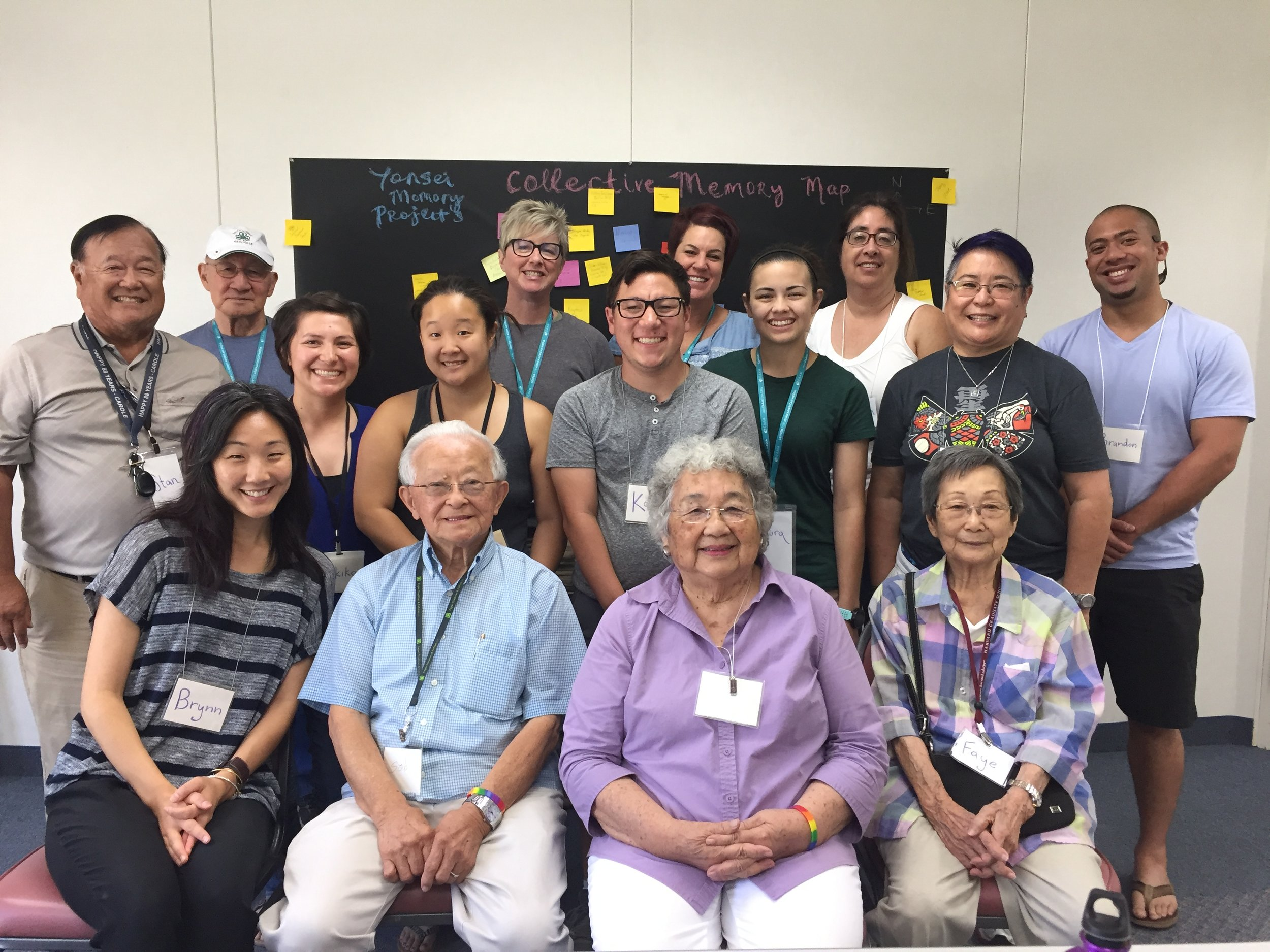 Brynn Saito, Nikiko Masumoto, and participants from YMP's first intergenerational, arts-based gathering, August 2017. More photos on  Facebook  and on  our blog .
