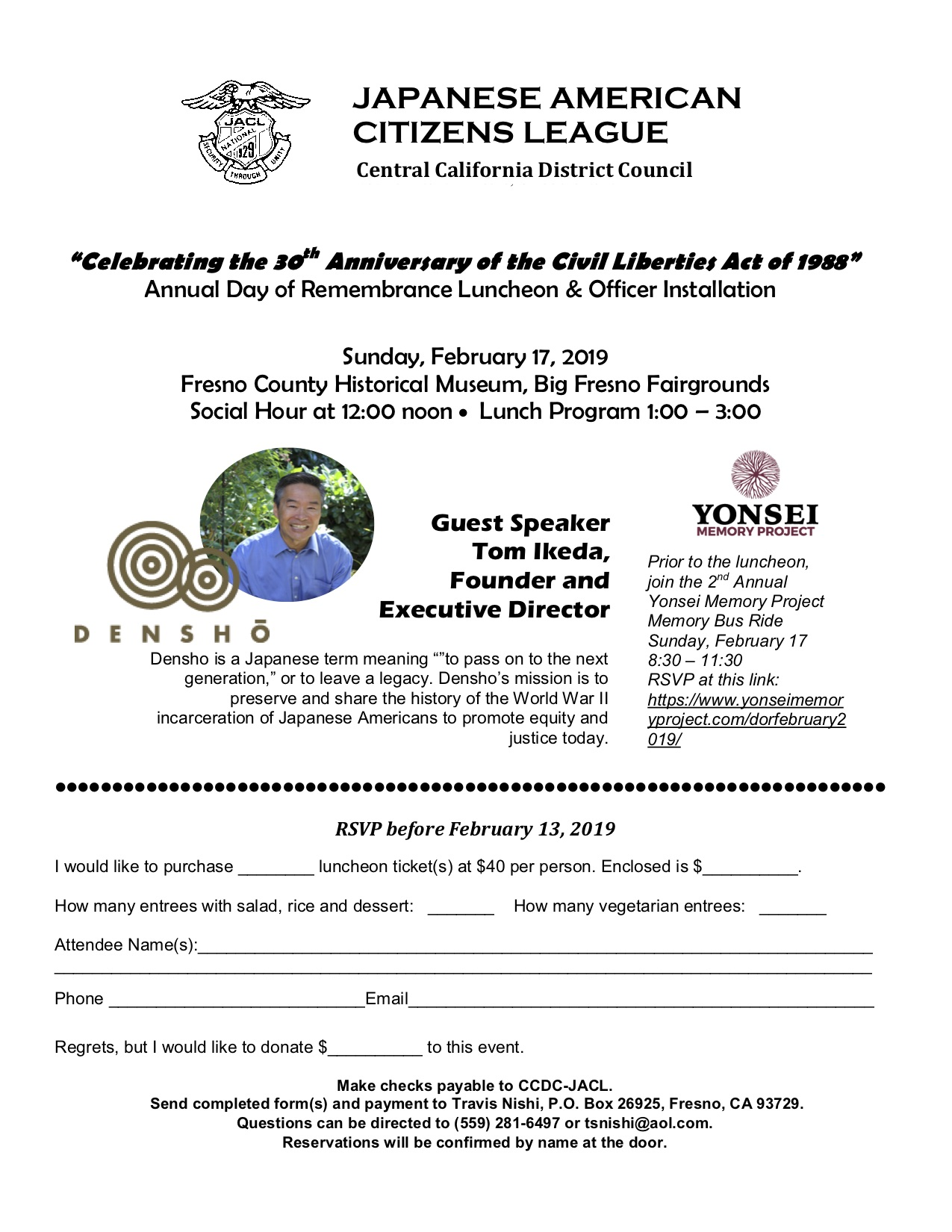 Above image: JACL's Luncheon Flyer.
