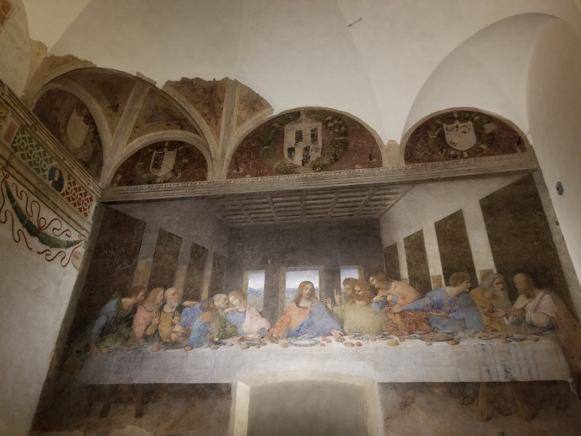 Front row view with the Iconic Last Supper