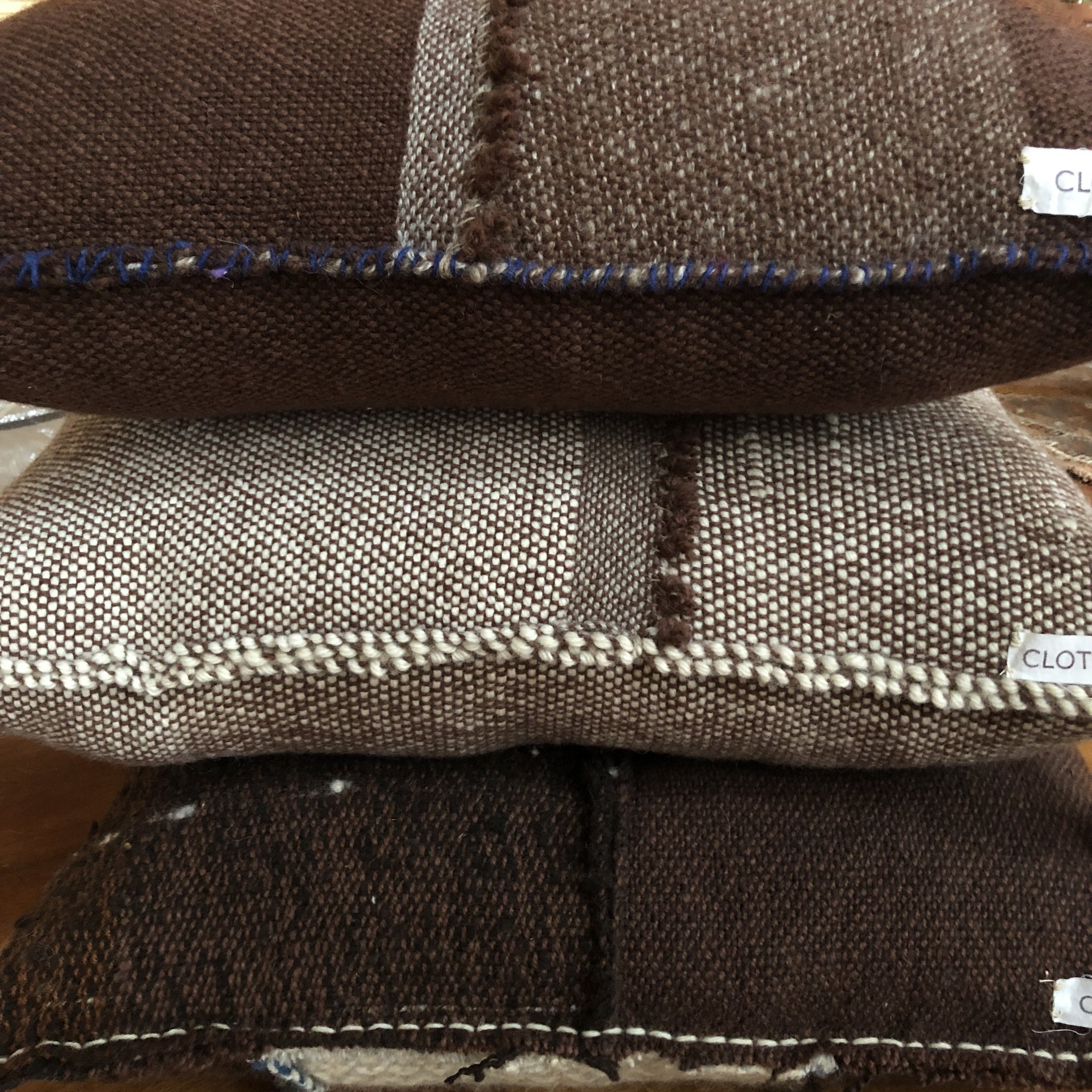 Natural wool floor cushions