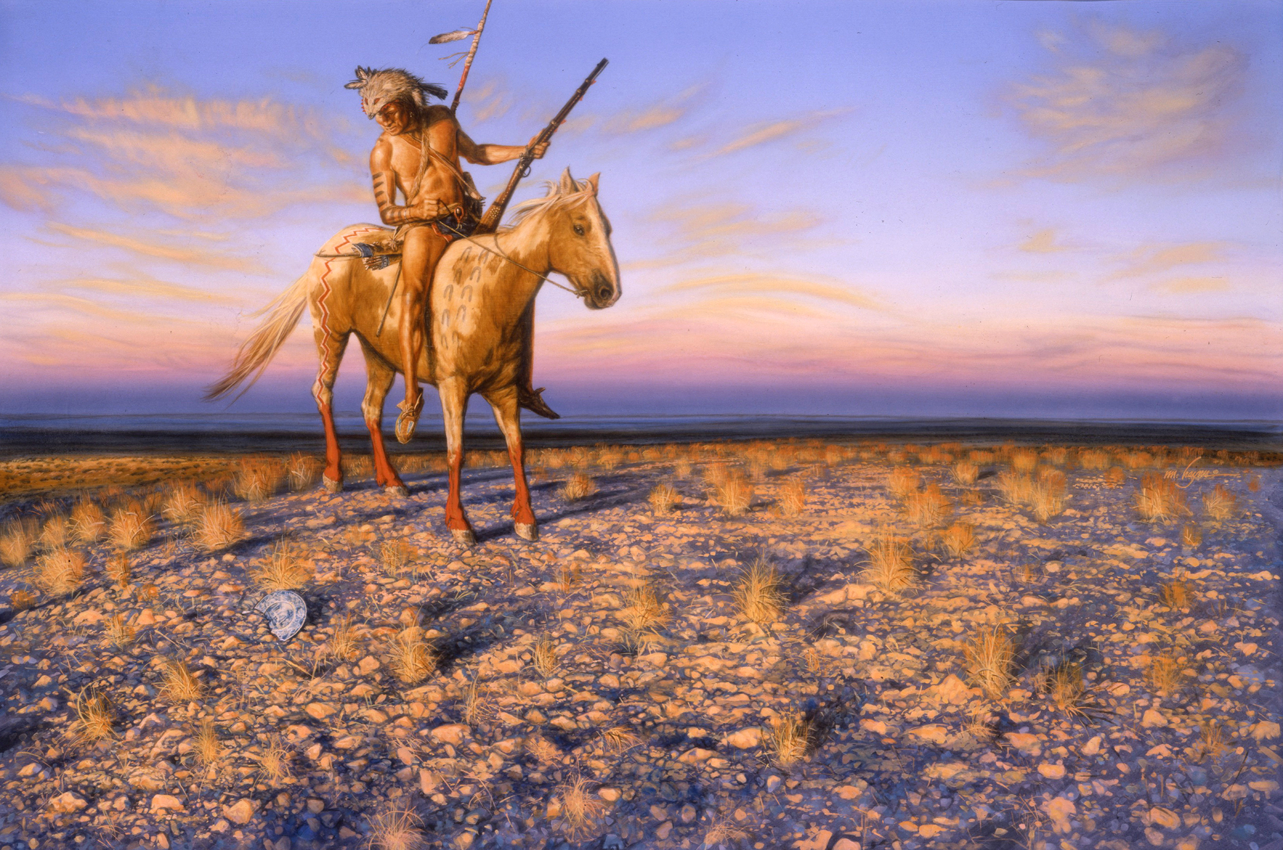 Wedgewood Sunset- Cheyenne Warrior