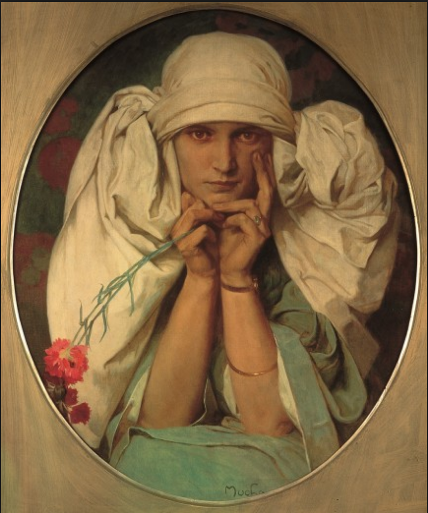 Portrait of Mucha's daughter, by Alphonse Mucha