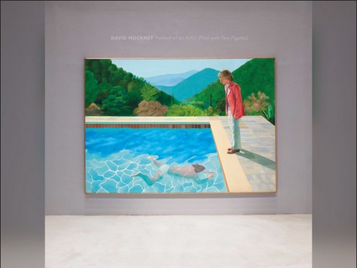 "David Hockney's ""Portrait of an Artist (Pool with Two Figures)"""