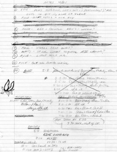 Little Shop of Horrors director's notes.  April 1982.