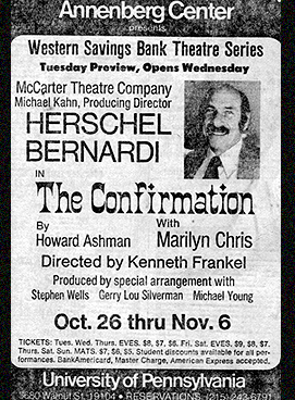 Poster for Annenberg Center production