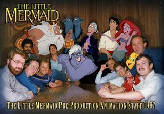 Howard with Little Mermaid people and creatures