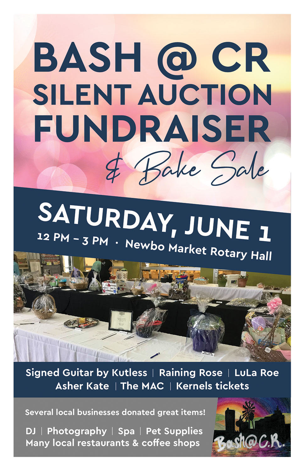 Bash at CR Silent Auction Fundraiser and Bake Sale