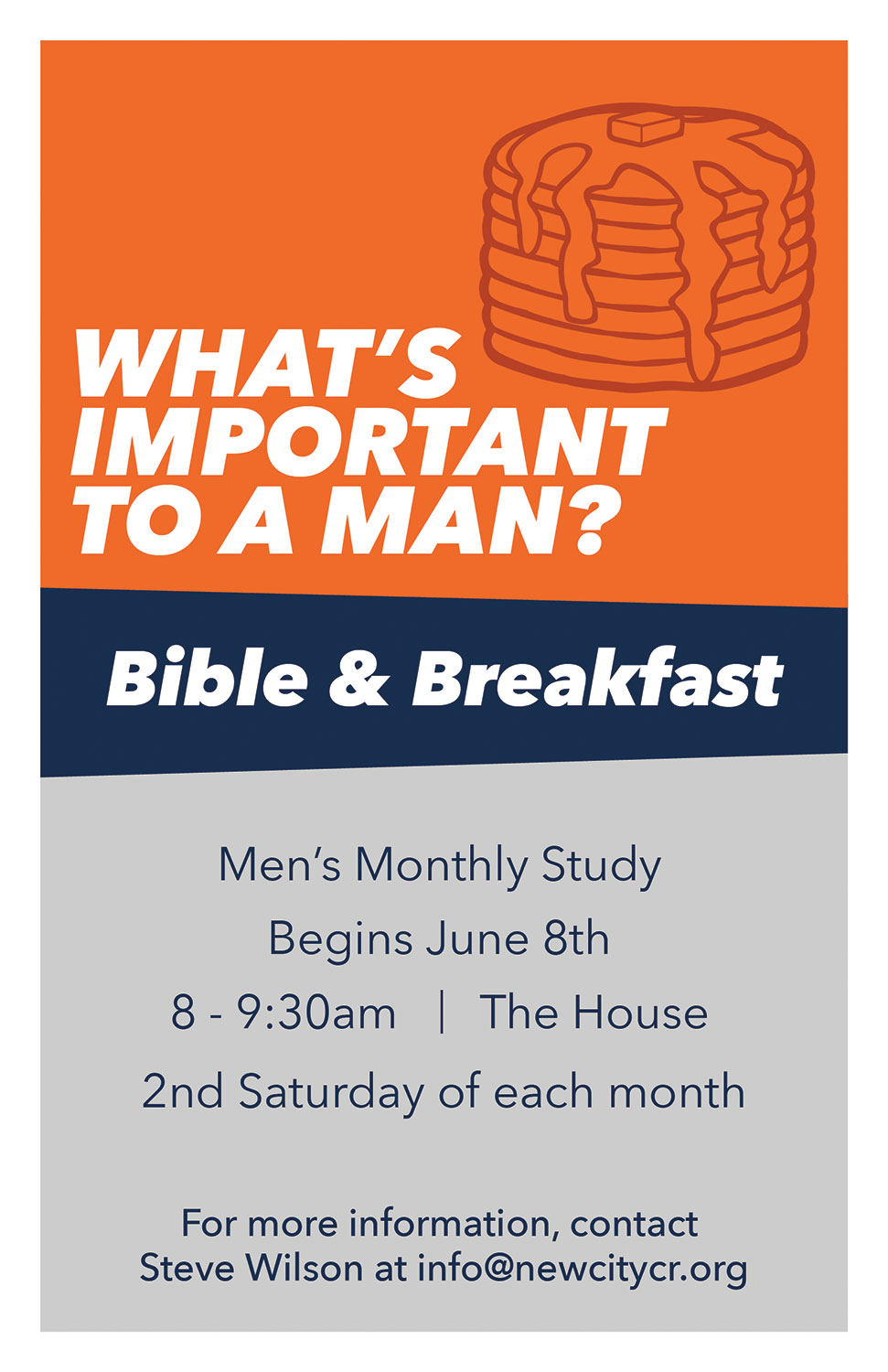 Men's bible and breakfast