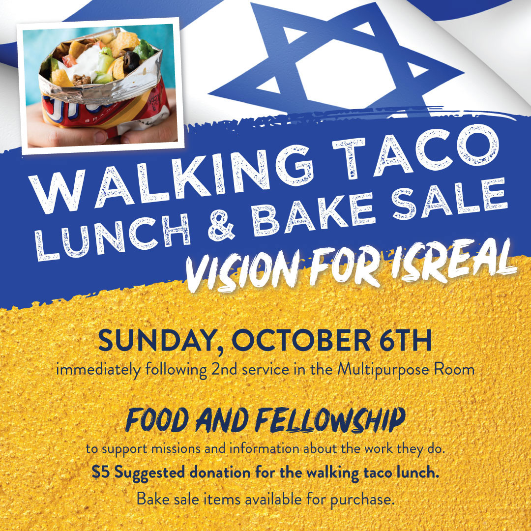 Walking Taco Lunch and Bake Sale Oct 6th 2019