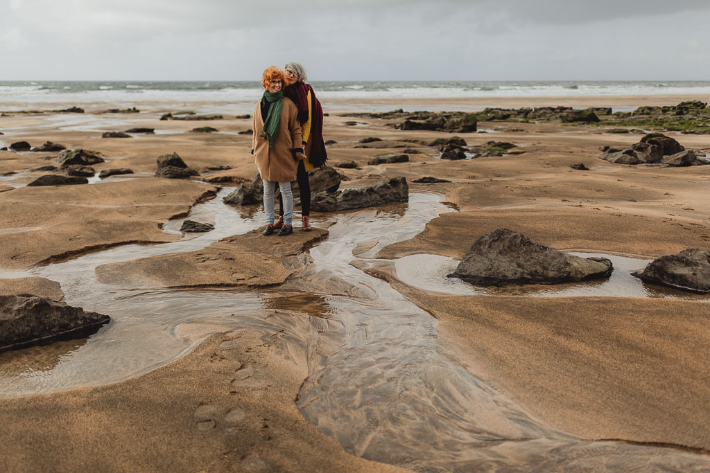 wedding photographer galway. couple photo shoot on fanore beach