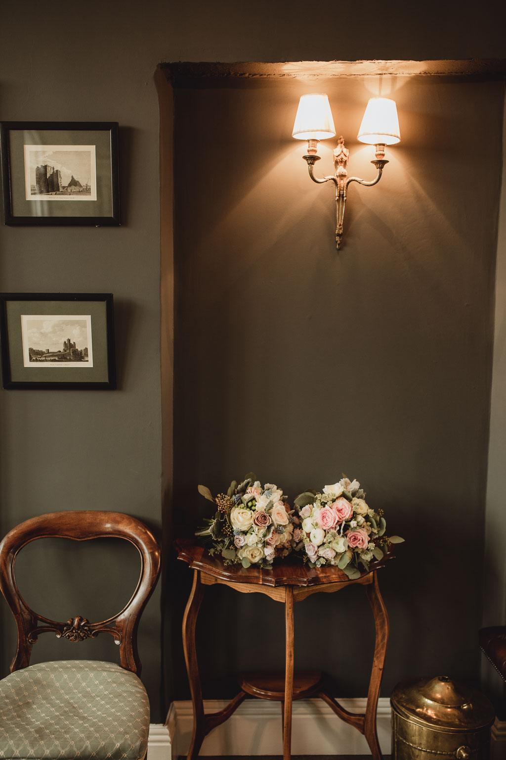 wedding flowers by VP flowers in clonabreany house