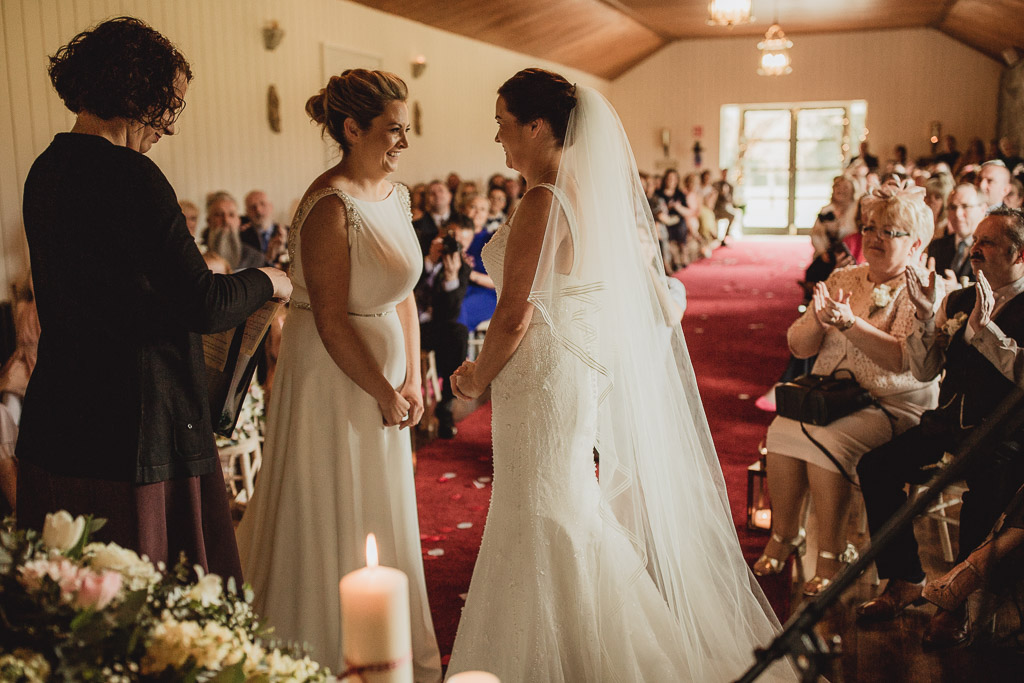 couple getting married in the chapel at clonabreany house