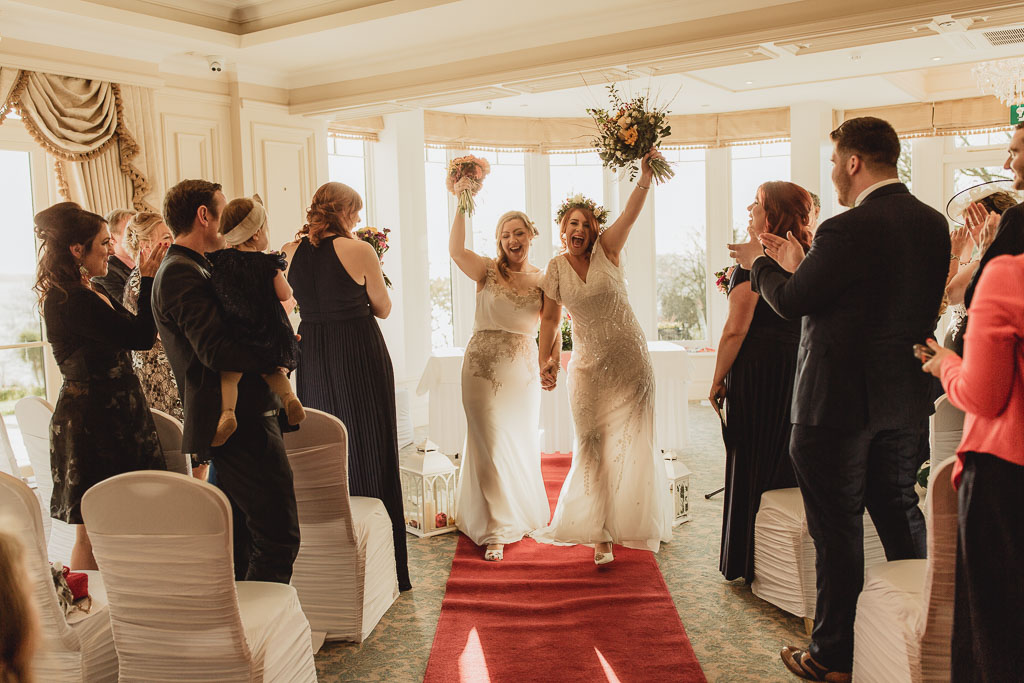 wedding ceremony at crover house